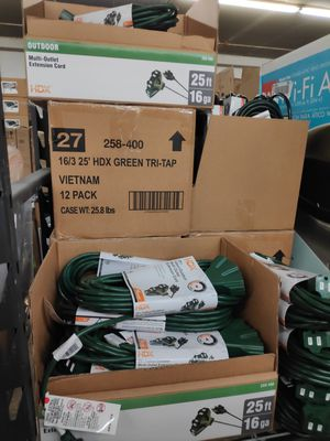 Hdx 25 ft extension cord for Sale in South El Monte, CA