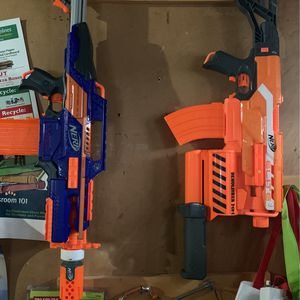 NERF RAPIDSTRIKE AND DEMOLISHER (NO DARTS) (PRICE NEGOTIABLE) for Sale in Hicksville, NY