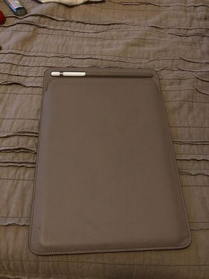 Taupe Leather Apple iPad Pro 10.5 case with pencil carrier for Sale in Beaverton, OR