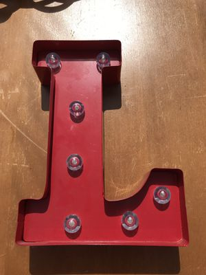 Metal letter with lights for Sale in Longbranch, WA