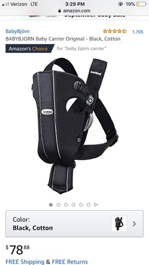 Baby Bjorne carrier for Sale in Sioux City, IA