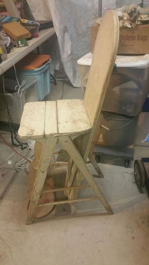 $50.00 Three in one and antique Bachelor chair and ironing board and step ladder for Sale in Phoenix, AZ