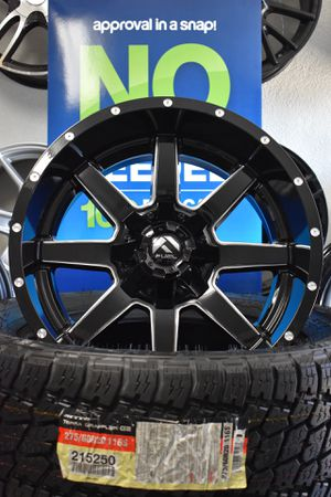 """20"""" Off-road tires and wheels starting at $1699 installed! (Fits Silverado, Titan, 6lug ram, & Ford F150. Finance Rims & tires for only $39 down!) for Sale in Whittier, CA"""