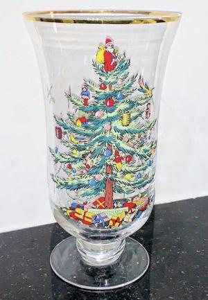 Spode Glass Christmas Tree Hurricane Vase for Sale in Chandler, AZ