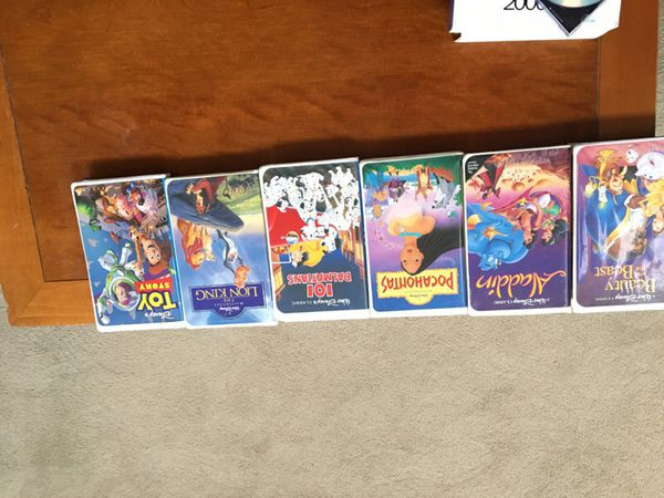 Disney VHS Movies from 1988-1993
