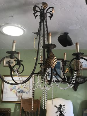 Chandelier lamp light open 12 to 5 Wednesday for Sale in San Diego, CA