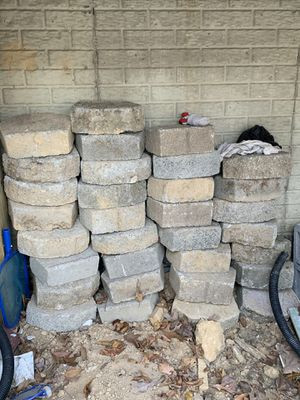 "Gray Retaining Wall Blocks, Used, 4""x12"" for Sale in Washington, DC"