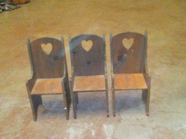 Antique Heart Schoolhouse Chairs