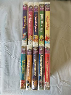 Disney 10 Masterpiece VHS Movies for Sale in Parkersburg, WV