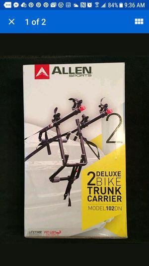 Allen Sports 102DN Deluxe 2-Bike Trunk Mounted Bike Rack, Black for Sale in Baldwin, MD