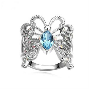 *NEW ARRIVAL* Sparkling Aquamarine Butterfly Ring with Crystal Accents Size 7 / 9 *See My Other 300 Items* for Sale in Palm Beach Gardens, FL