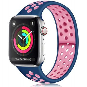 Breathable Sport Strap Wristband Replacement for Apple Watch Series 5 / 4 / 3 / 2 / 1 Sport - 44MM / 42MM - 40 MM / 38 MM (Blue Pink) for Sale in Midland, TX