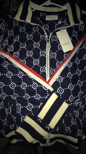 Gucci Ivory Jacquard Jacket & Pants Tracksuit for Sale in Metairie, LA