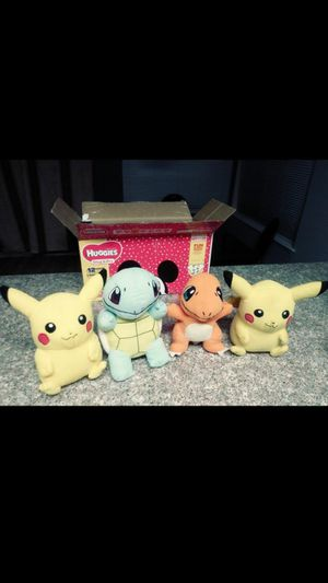 | PIKACHU ° SQUIRTLE ° CHARMANDER ° POKEMONS COLLECTIONS PLUSH TOY | STUFFED ANIMALS. FIRM PRICE! All for $20 | THANK YOU! Walnut & Las vegas blvd. for Sale in Las Vegas, NV