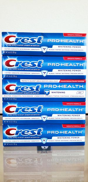 (5) Crest Pro-Health Whitening Toothpastes 4.6 oz - $10 For All FIRM for Sale in Irvine, CA