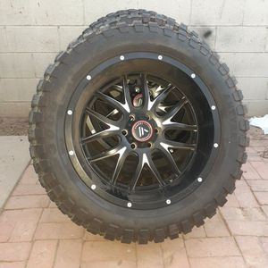 Kit For Truck Lift, Antyre 3000 Wheels, Asanti Black Rims W/spikes for Sale in Corona, CA