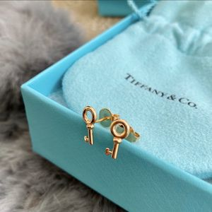 Authentic Tiffany & Co 18K Rose Gold Key Stud Earrings New for Sale in Union City, CA