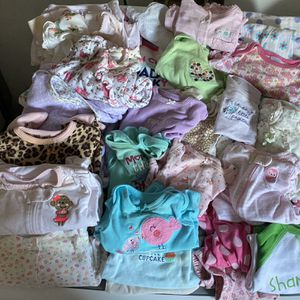 Girls Baby Clothes (stained) for Sale in Port Charlotte, FL