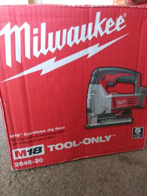 Milwaukee New JIG SAW M 18 Cordless. Nuevo for Sale in Los Angeles, CA