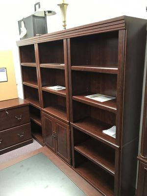 Wall library - Cherry finish for Sale in Lexington, SC