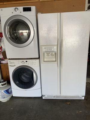 Washer gas dryer side by side refrigerator freezer for Sale in Salt Lake City, UT