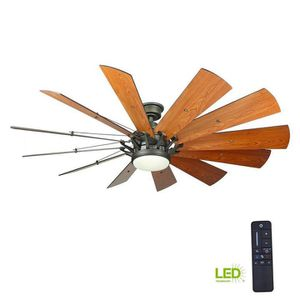 Trudeau 60 in. LED Indoor Espresso Bronze Ceiling Fan with Light Kit and Remote Control for Sale in Bellaire, TX