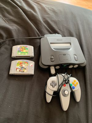 Nintendo 64 With Games for Sale in Lowell, MA