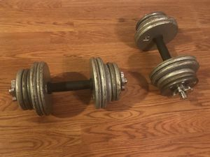 Pair of adjustable dumbbell weights 35lbs each for Sale in Zephyrhills, FL