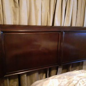 King Size Sleigh bed Frame With Boxsprings only for Sale in Stone Mountain, GA