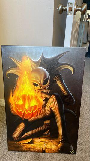 Nightmare before Christmas canvas screen art jack skellington flaming pumpkin for Sale in Longwood, FL