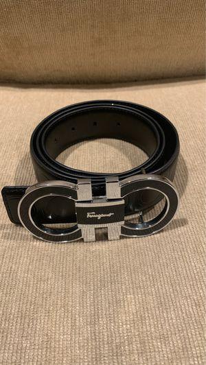 Silver Buckle ferragamo belt for Sale in White Plains, MD