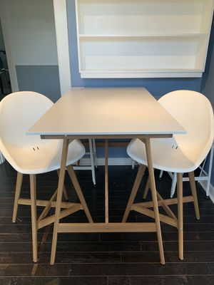Ikea dining or breakfast nook table and two chairs for Sale in Seattle, WA