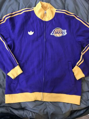 Adidas full zip sweater. Lakers for Sale in Detroit, MI