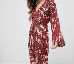 Midi Sequins Wrap Dress for Sale in Fremont, CA