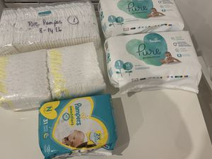 GREAT DEAL - Pampers diapers newborn & size 1 for sale for Sale in Brooklyn, NY