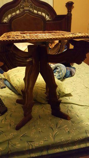 Wooden crave side desk for Sale in Hialeah, FL