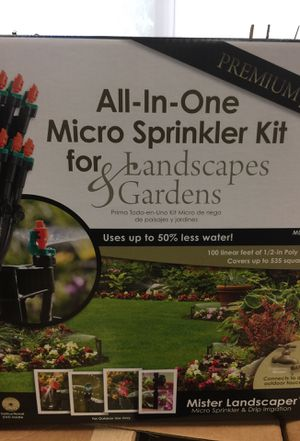 Mister Landscaper All-In-One Micro Sprinkler Kit for Landscapes & Gardens for Sale in Davidson, NC