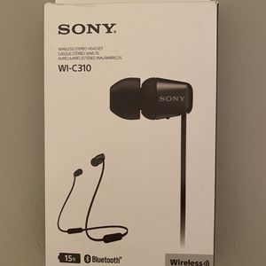 Sony WI-C310 Wireless in-Ear Headset/Headphones with Mic for Phone Call for Sale in Houston, TX