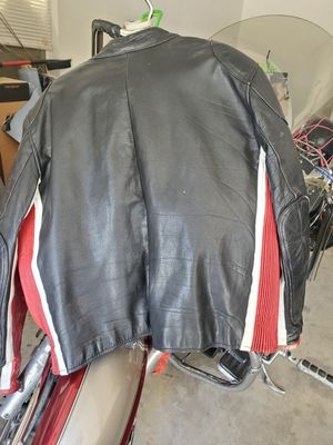 Motorcycle leather coatwith liner for Sale in Cloverdale, IN