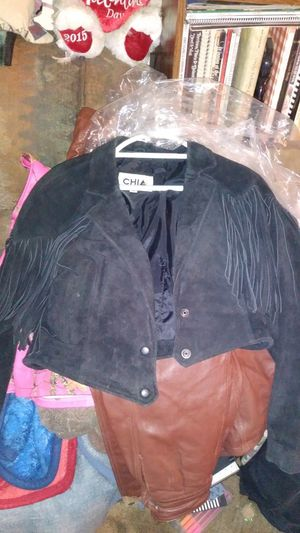 Leather fringe jacket for Sale in Pine Grove, CA