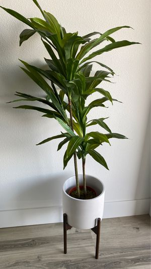 Fake potted plant with base for Sale in Yorba Linda, CA