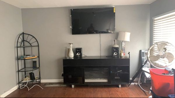 Fire place entertainment stands and speaker