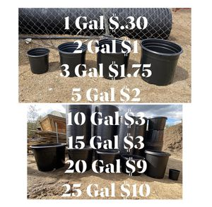 New plastic pots for Sale in Perris, CA