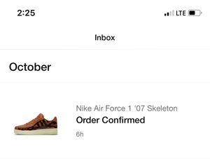 Nike Air Force 1 skeleton orange (8.5) for Sale in Vista, CA