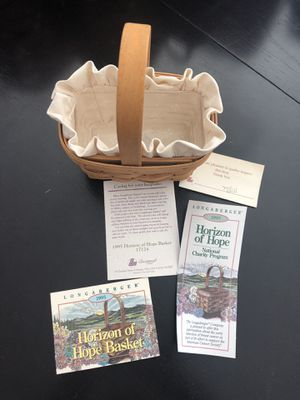 Longaberger 1995 Horizon of Hope basket for Sale in Clearwater, FL