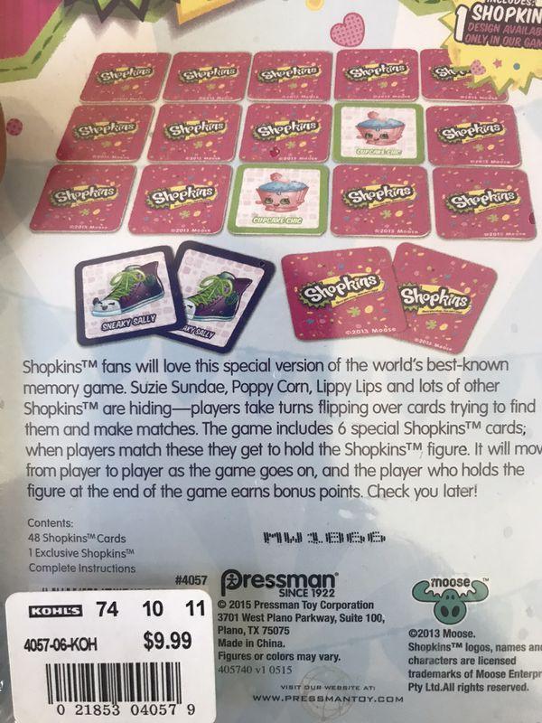 Shopkin make a match game
