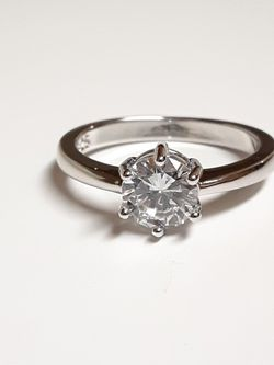 Size 9 Sterling Silver CZ Diamond Engagement Ring for Sale in Fort Worth,  TX