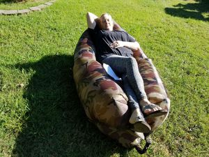 Camo camping hunting Buffy Blow up sofa with travel bag , light weight take it anywhere for Sale in Calvert City, KY