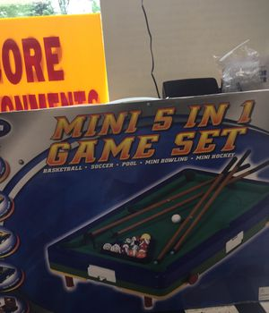 Mini 5 in 1 Game Set for Sale in Matawan, NJ