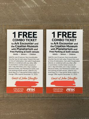 The Ark Encounter and Creation Museum Combo Tickets for Sale in Sacramento, CA